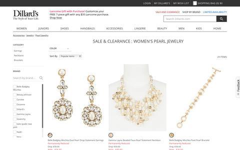 Sale & Clearance Accessories | Jewelry | Pearl Jewelry | Dillards.com