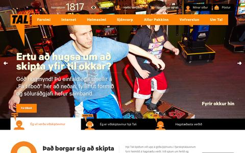 Screenshot of Home Page tal.is - Tal - Fyrir okkur hin - captured Sept. 30, 2014
