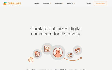 Screenshot of About Page curalate.com - Visual Commerce Software and Marketing Platform - Curalate - captured July 27, 2017