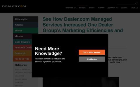 Screenshot of Case Studies Page dealer.com - See How Dealer.com Managed Services Increased One Dealer Group's Marketing Efficiencies and Enhanced Its Brand - Dealer.com - captured June 22, 2018