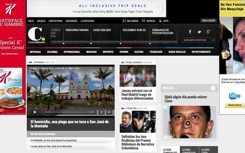 Screenshot of Home Page elcolombiano.com - El Colombiano | noticias de Medellín, Antioquia, Colombia y el mundo. - captured Jan. 22, 2015