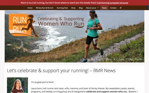 Screenshot of Press Page runmommarun.com - Let's celebrate & support your running! – RMR News – Run Momma Run - captured Sept. 21, 2018