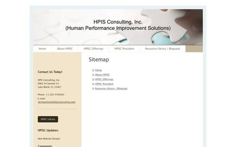 Screenshot of Site Map Page hpisconsulting.com - HPIS Consulting, Inc. - Home - captured Oct. 12, 2016