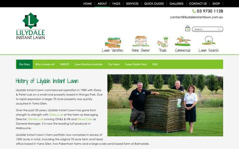 Screenshot of About Page lilydaleinstantlawn.com.au - About Us   Lilydale Instant Lawn   Lawn Solutions - captured Sept. 28, 2018