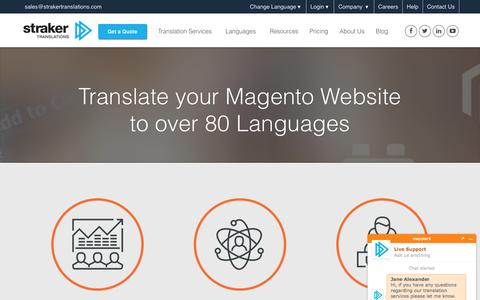 Translate your Magento Website to over 80 Languages
