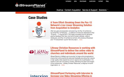 Screenshot of Case Studies Page istreamplanet.com - Case Studies | iStreamPlanet - captured Sept. 16, 2014
