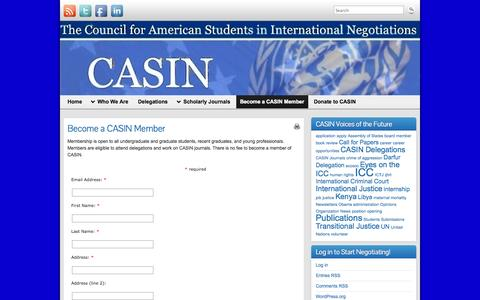 Screenshot of Signup Page americanstudents.us - Become a CASIN Member | - captured Oct. 3, 2014