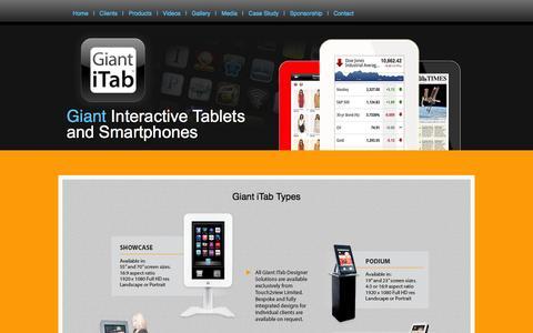 Screenshot of Products Page giantitab.com - Media - captured Sept. 29, 2014