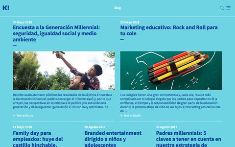 Screenshot of Blog kideoo.com - Información útil para los profesionales que se dirigen al público infantil y familiar - captured Sept. 20, 2018