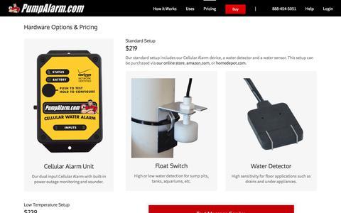 Screenshot of Pricing Page pumpalarm.com - Pricing - PumpAlarm.com - captured Sept. 19, 2017