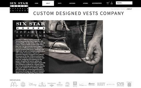 Screenshot of About Page sixstaruniforms.com - Six Star Uniforms  - Uniforms and Vests for Sale - captured March 4, 2017