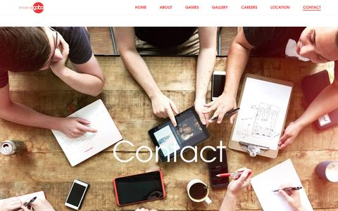 Screenshot of Contact Page studiogobo.com - Contact – Studio Gobo - captured July 21, 2016