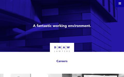 Screenshot of Jobs Page dmawlawyers.com.au - Careers - DMAW Lawyers - captured June 3, 2017