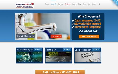 Screenshot of Team Page insuranceworks.ie - Our Excellent Team at Insuranceworks.ie - captured Oct. 1, 2014