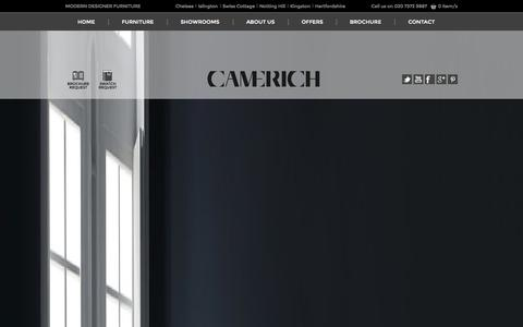 Screenshot of Home Page camerich.co.uk - Welcome to Camerich London - Modern Designer Furniture and Sofas - captured Sept. 27, 2014