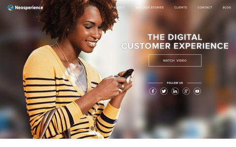 Screenshot of Home Page neosperience.com - Neosperience - The Digital Customer Experience - captured Sept. 30, 2014