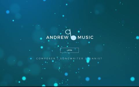 Screenshot of Home Page andrewbmusic.com - Andrew B Music - Contemporary Piano Music - captured Nov. 12, 2018