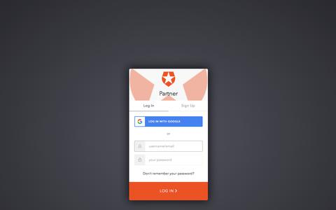 Screenshot of Login Page auth0.com - Sign In with Auth0 - captured Jan. 27, 2020