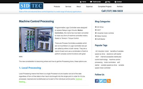 Screenshot of Blog motorcontrolelectronics.com - Southern Industrial Drive Technology — State of the art industrial drive control expertise in a wide range of industry applications - captured Oct. 3, 2014