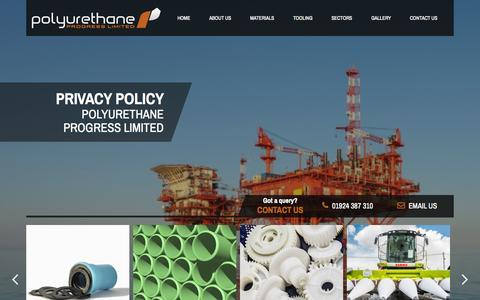 Screenshot of Privacy Page polyprog.co.uk - Privacy Policy for Polyurethane Progress Ltd - Polyurethane Manufacturer and Supplier - captured Oct. 3, 2014