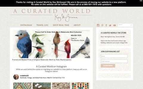 Screenshot of Home Page kaymcgowan.com - Shop the Globe with A Curated World by Kay McGowan - captured Oct. 19, 2018
