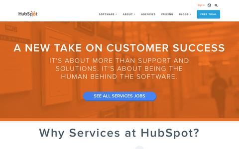 Screenshot of Services Page hubspot.com - Services | HubSpot Jobs - captured Feb. 12, 2016