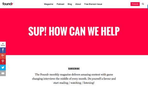 Screenshot of Contact Page foundrmag.com - Foundr - captured June 30, 2017