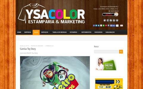 Screenshot of Blog ysacolor.com.br - Camisetas promocionais, Camiseta personalizada em Resende -RJ, Estamparia, Transfer, Sublimação - captured Oct. 8, 2014