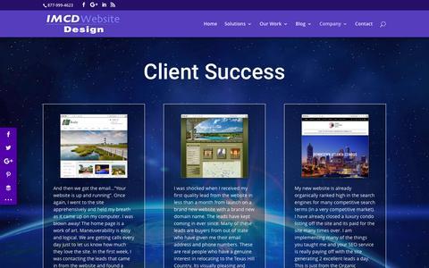 Screenshot of Testimonials Page imcd.com - Website Testimonials Real Estate & Business Web Design Clients - captured Dec. 29, 2016