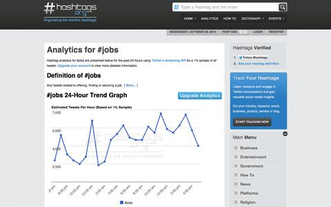 Screenshot of Jobs Page hashtags.org - Jobs Hashtag - captured Oct. 29, 2014