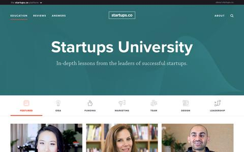 Lessons: featured | Startups.co
