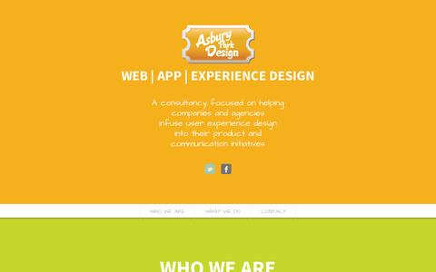 Screenshot of Home Page Contact Page asburyparkdesign.com - Asbury Park Design - User Experience, Digital and Graphic Design - captured Sept. 30, 2014