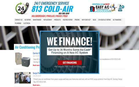Screenshot of Products Page easyac.net - Air Conditioning Products | Easy AC - captured July 15, 2018