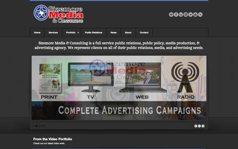 Screenshot of Home Page sizemoremedia.com - Home   Sizemore Media & Consulting - captured Oct. 4, 2014