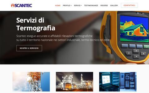 Screenshot of Home Page scantec.it - Scantec - captured Oct. 2, 2018