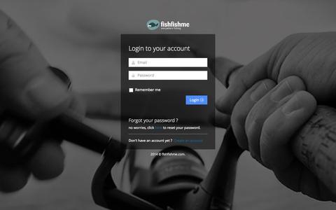 Screenshot of Login Page fishfishme.com - Fishfishme | Login - captured Oct. 28, 2014