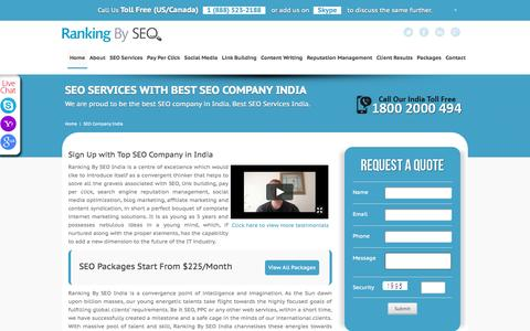 Screenshot of About Page rankingbyseo.com - Best SEO Company India, Top SEO Services India @ $225 - captured Sept. 25, 2014