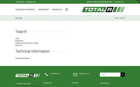 Screenshot of Site Map Page total-r.com - Site Map – Total-R Insulation - captured Nov. 13, 2017