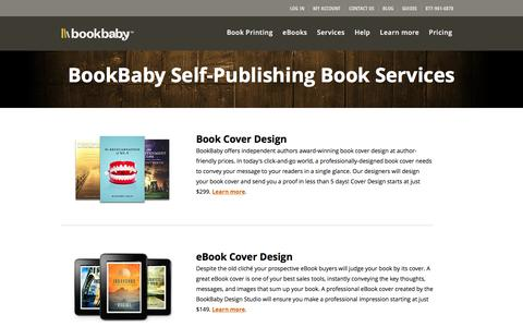 Screenshot of Services Page bookbaby.com - Self-publishing-book-services | BookBaby - captured Jan. 6, 2016