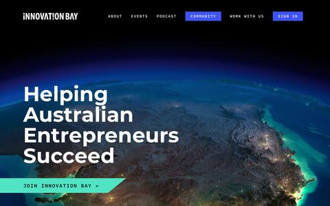 Screenshot of Home Page innovationbay.com - Innovation Bay - captured Sept. 16, 2018