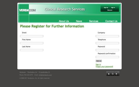 Screenshot of Signup Page verdacom.com - Verdacom | IMRS - captured Oct. 26, 2014