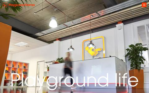Screenshot of About Page playground-games.com - About Playground - Playground Games - captured July 20, 2018