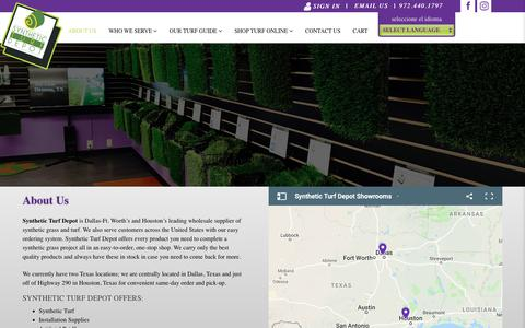 Screenshot of About Page stdepot.com - About Us – Synthetic Turf Depot - captured May 29, 2019