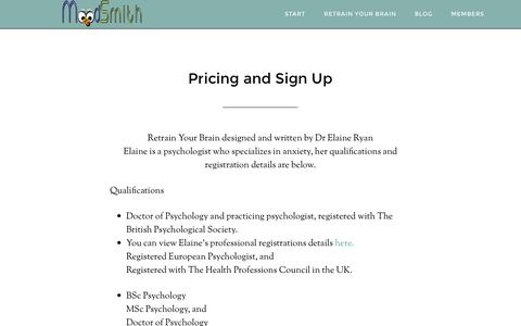 Screenshot of Pricing Page moodsmith.com - Pricing and Program Details - captured Oct. 7, 2014