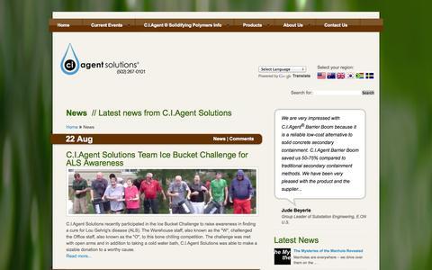 Screenshot of Press Page ciagent.com - News | C.I.Agent Solutions - captured Oct. 1, 2014