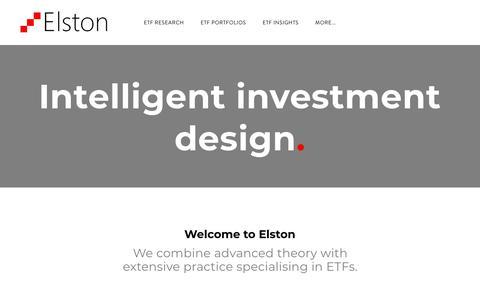 Screenshot of Home Page elstonetf.com - Elston - Home - captured July 18, 2018