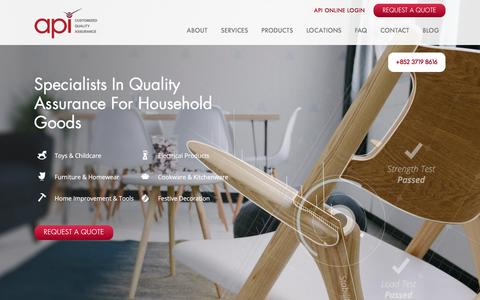API | Specialists in Quality Assurance for Household Goods