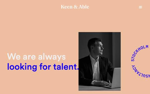 Screenshot of Jobs Page keenandable.com - Careers - captured Oct. 15, 2018