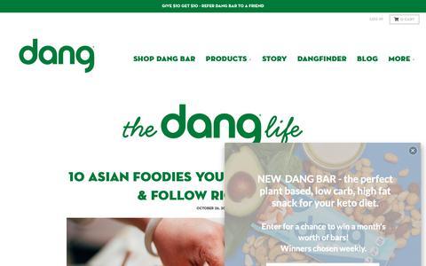 Screenshot of Press Page dangfoods.com - The Dang Life – Dang Foods - captured Nov. 6, 2018