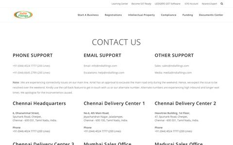 IndiaFilings Contact Details - Address, Email & Phone Numbers